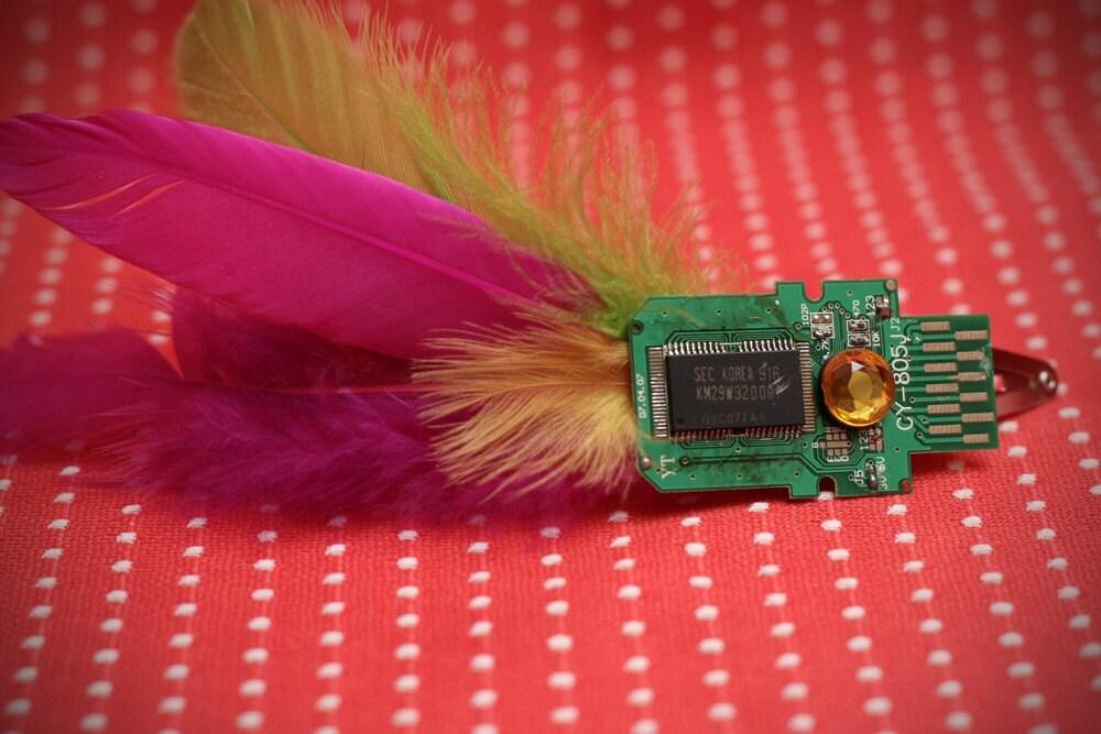 Charming Microchip Hair Clip