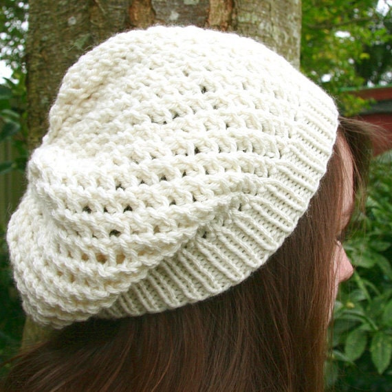 Baggy Hat Knitting Pattern : Unavailable Listing on Etsy