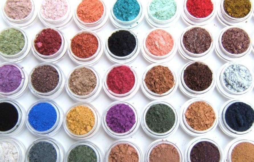 Eye Shadow Mineral Makeup - Choose Your Own - 10 Eye Color Samples - Eyeshadow/Eyeliner - Hand Crafted and All Natural