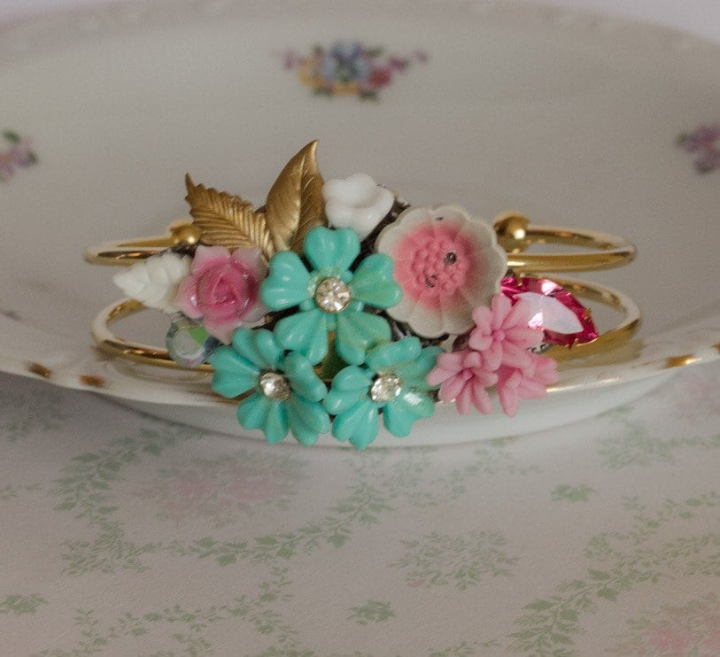 Sugar and Spice - Vintage Collage Bracelet