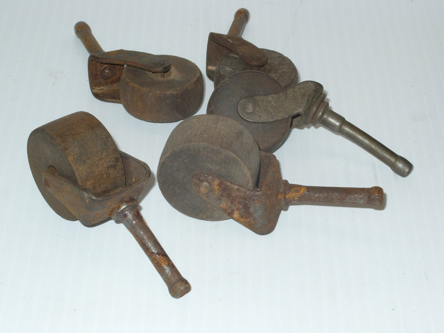Antique Wooden Furniture Or Bed Casters Wheels By Earlstonantiques