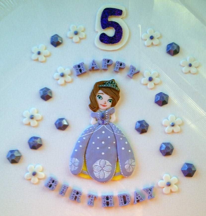 Etsy Cake Decorations : Sophia The First Inspired Cake Decorations by CakeFreak on ...