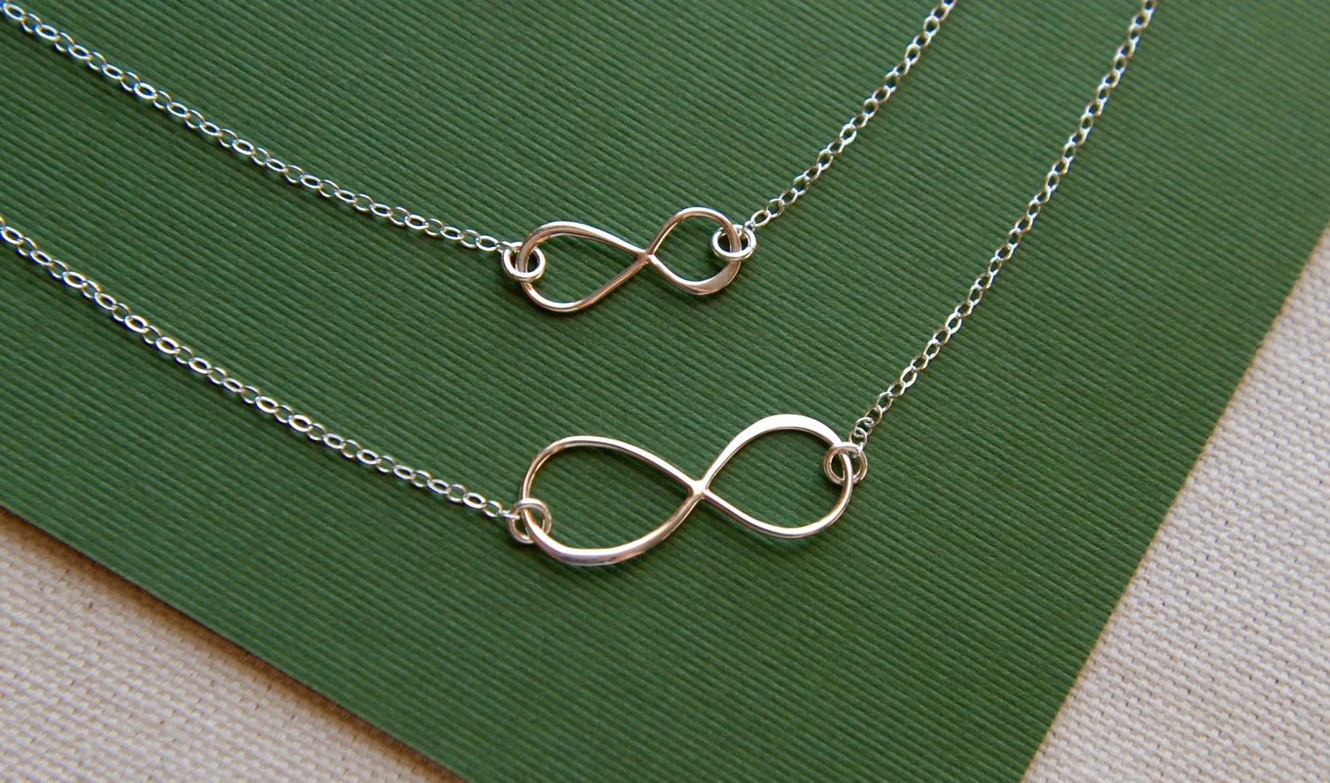 Sterling silver infinity link necklaces