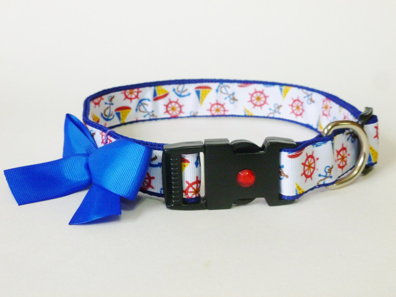 15% off Dog Collar - Nautical - thedoggiehouse
