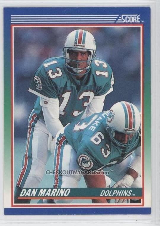 1990 Score Dan Marino Hall Of Famer Qb Football Card By