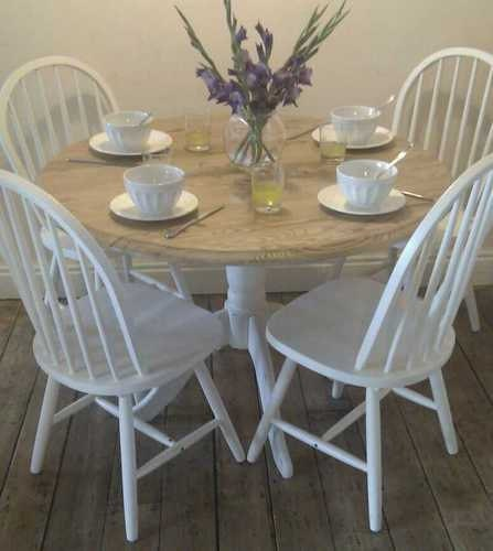 Unavailable listing on etsy - Shabby chic round dining table and chairs ...