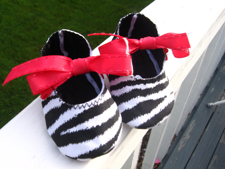 Zebra Print Baby Mary Janes