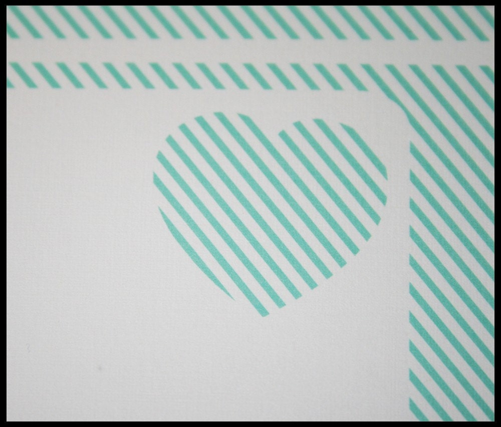 Pinstripe Love Stationary Set (Ten Notes and Envelopes)