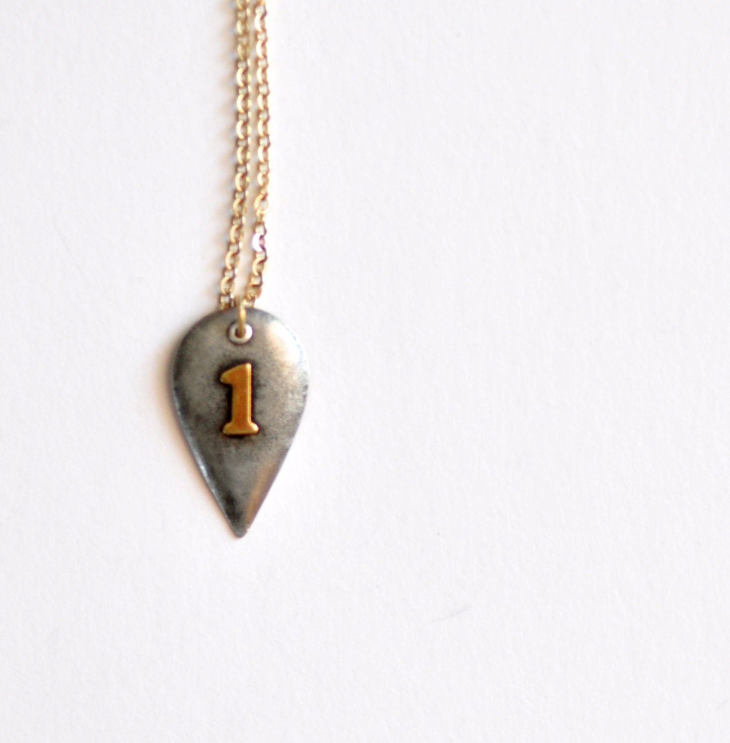 Number 1 . Geometric . Necklace . by Mad Tea Garden - madteagarden