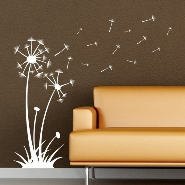Dandelions Blowing in the Wind, vinyl wall art decal stickers