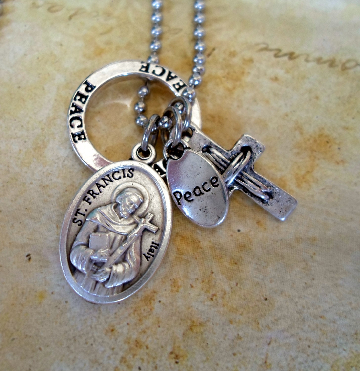 items similar to st francis of assisi charm necklace