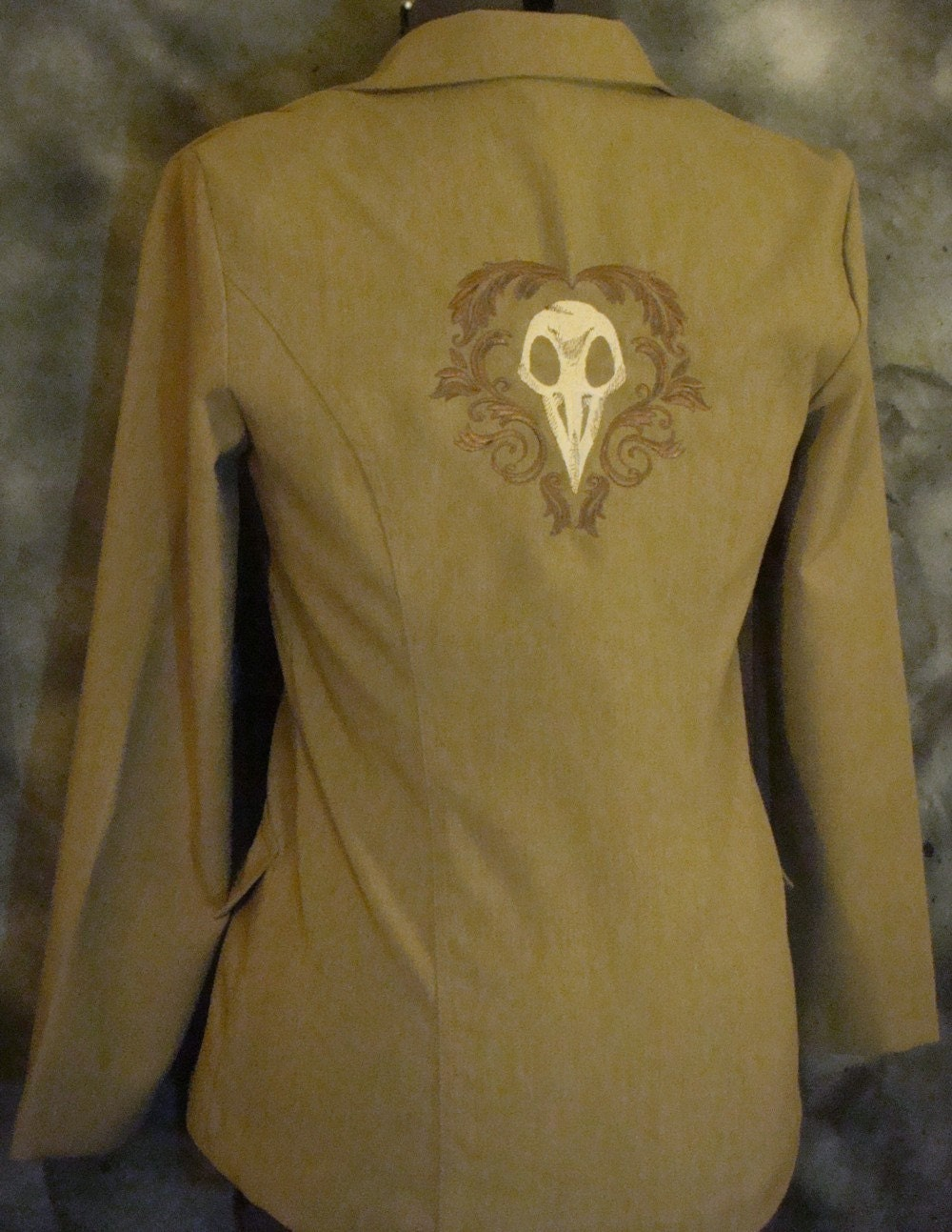 Crow Skull Jacket by Tadaboutique