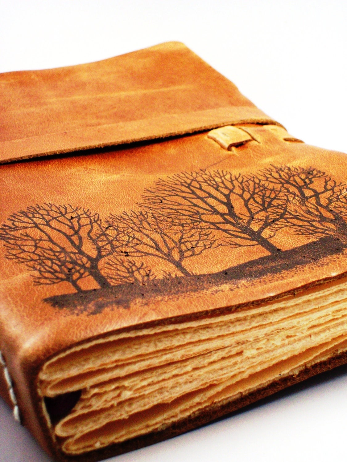 Forest For The Trees Leather Journal in Primitive Brown- 6