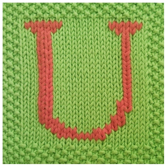 PDF Knitting pattern capital letter U afghan / by FionaKelly
