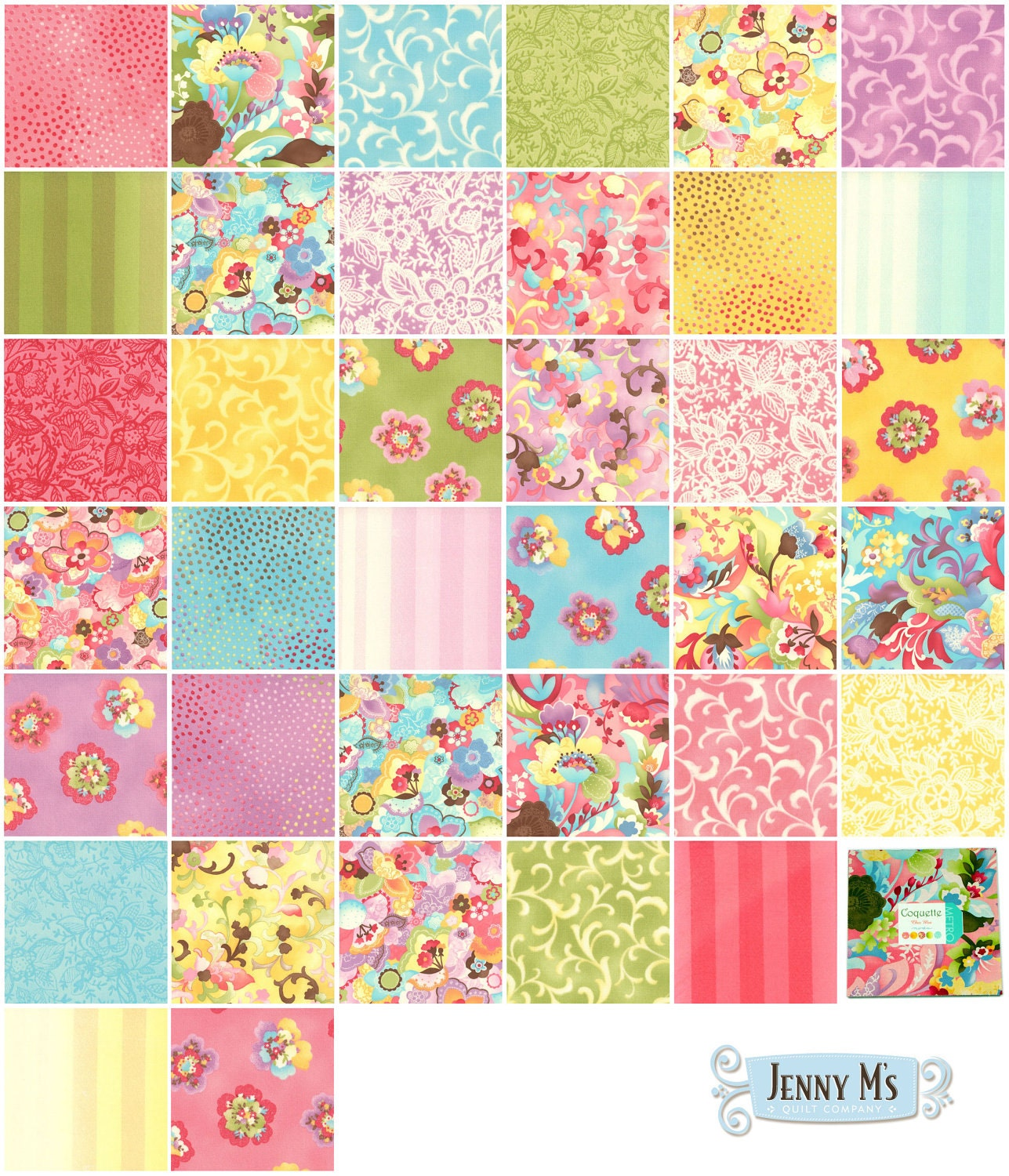 Layer Cake Quilt Missouri Star : Coquette Moda Layer Cake by JennyMFabrics on Etsy