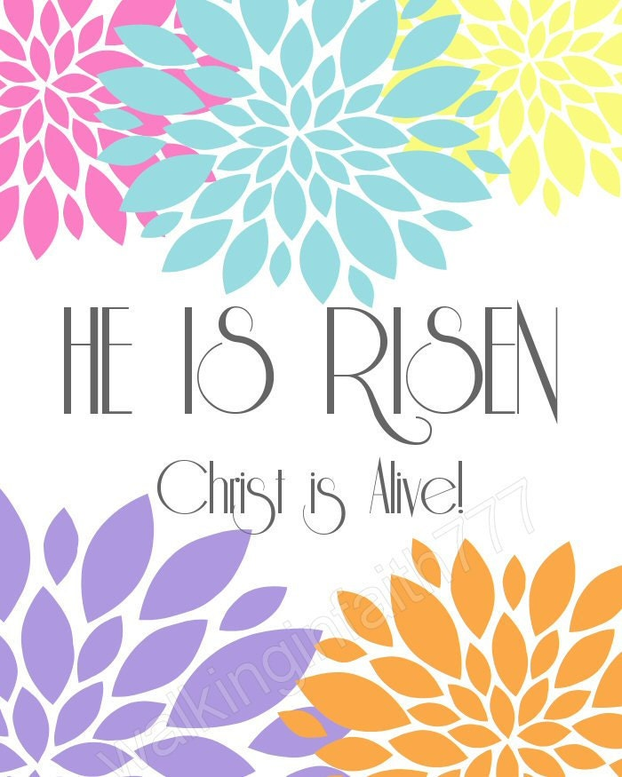 Unusual image throughout he is risen printable