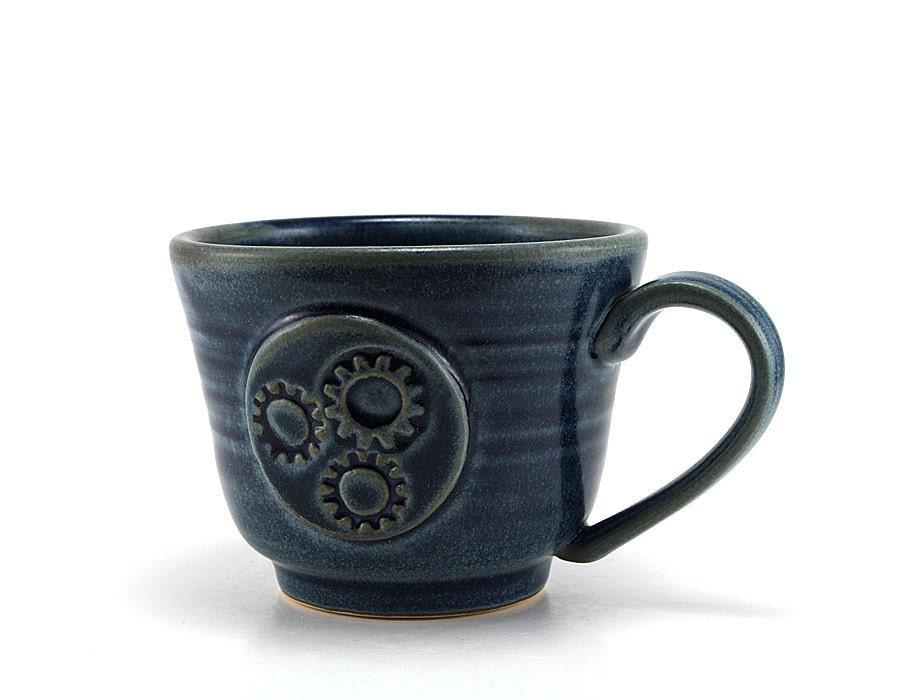 Blue Steampunk Coffee Mug Steam Punk Inspired By