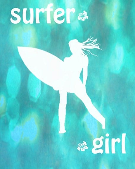 surfer girl decor on Etsy, a global handmade and vintage marketplace.