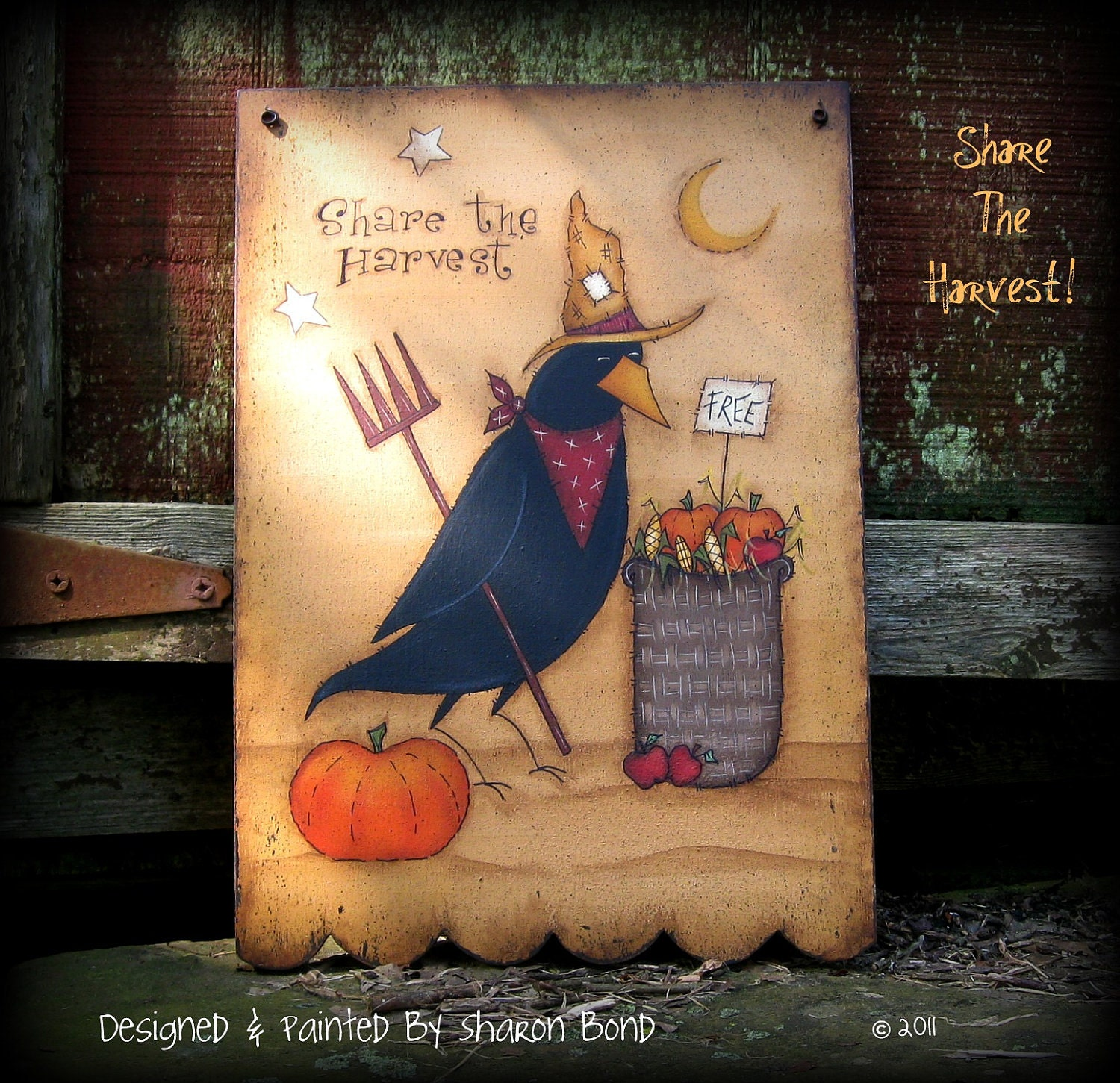 E PATTERN - Share The Harvest - Designed & Painted by Me, Sharon B - My very first one of my own