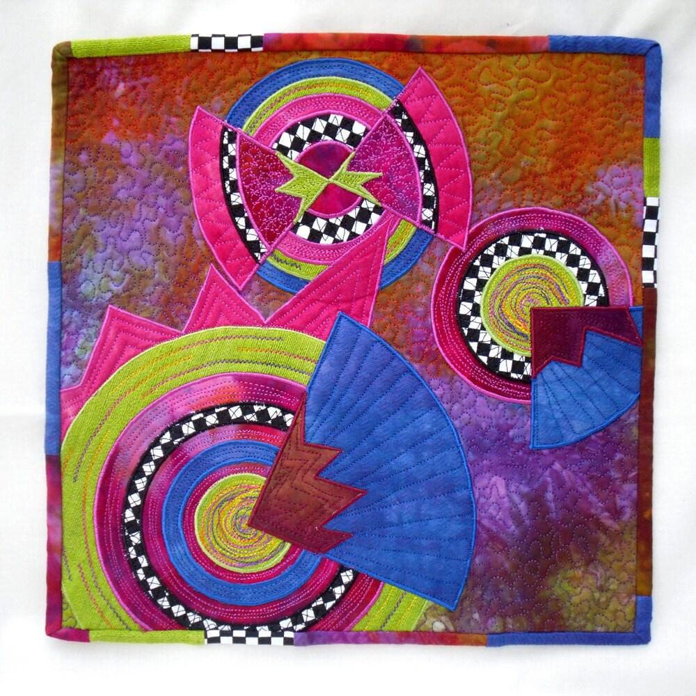 Art Quilt - Deco Study 1 - PolkadotPossum