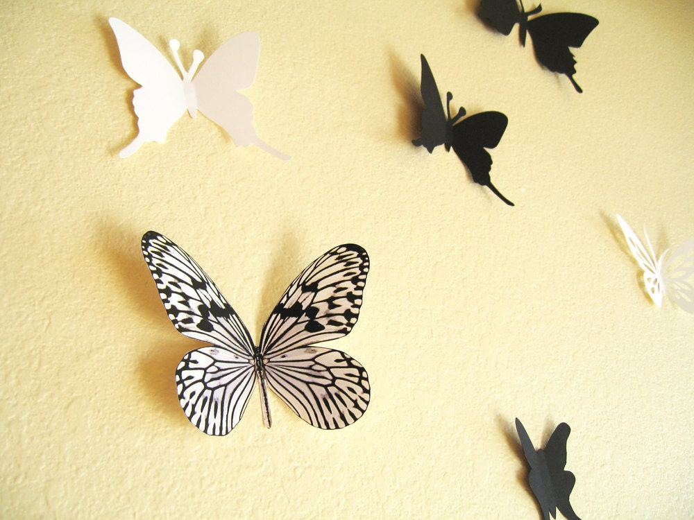Black And White Butterfly Wall Hanging | Decorticosis