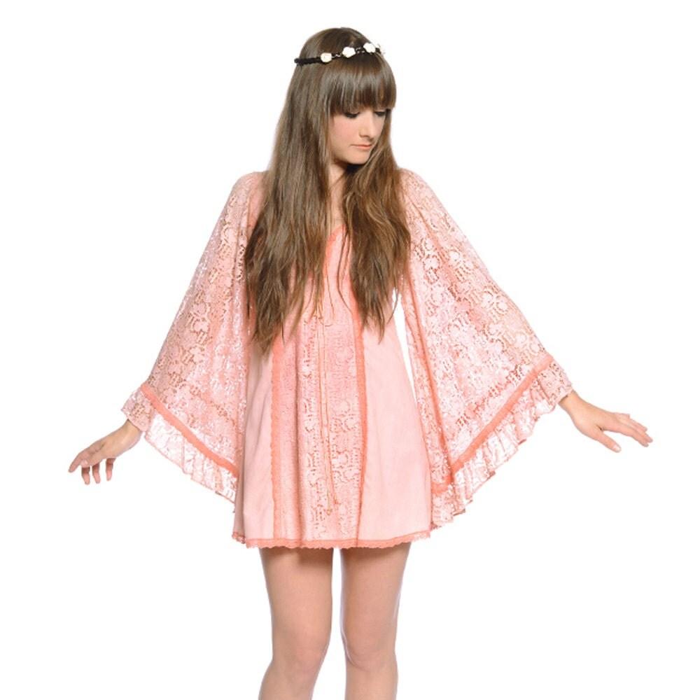 Prairie mini dress corset 1970s boho bridesmaid size xs extra small
