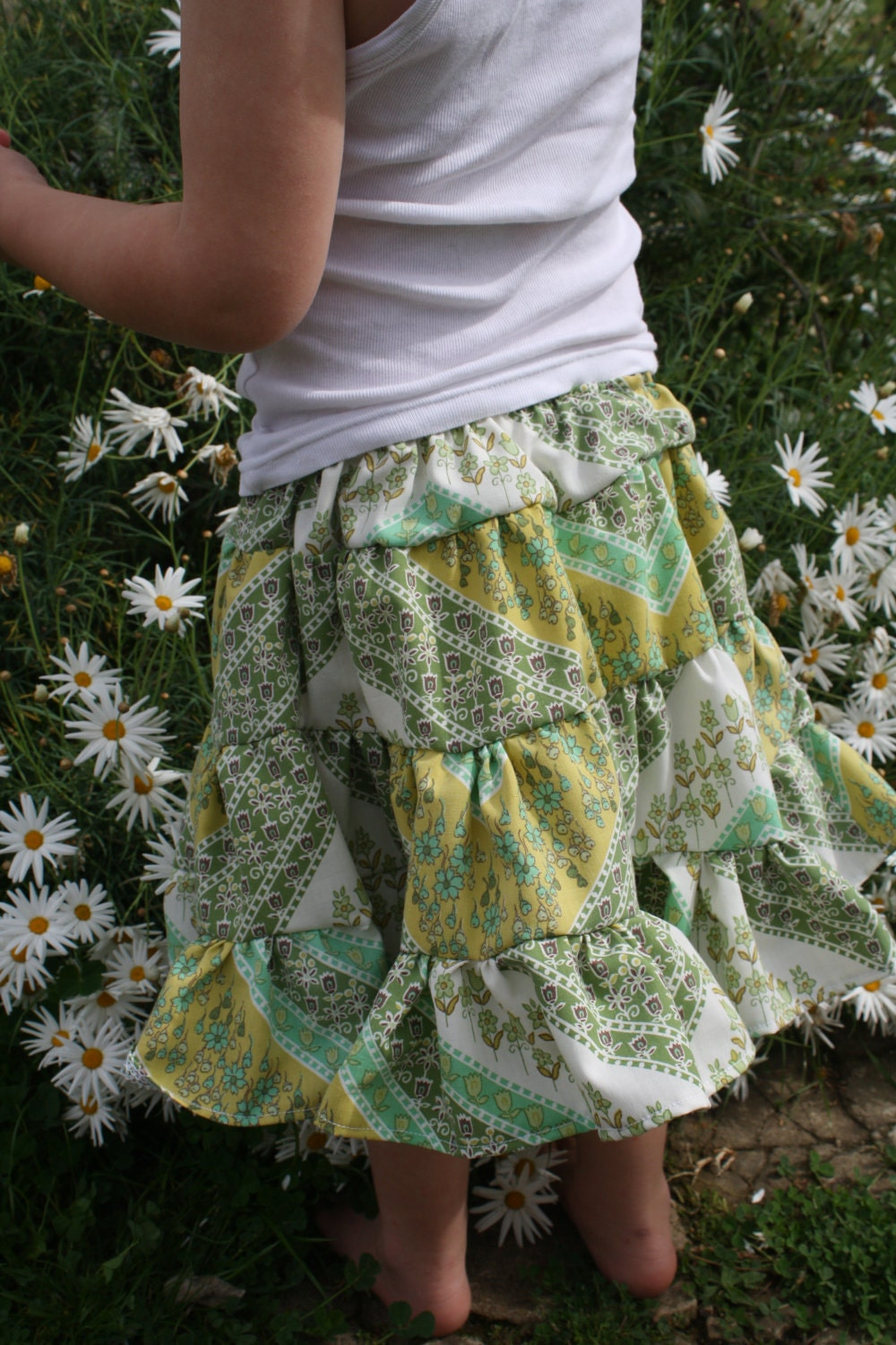 Spring Green Flower Garden Skirt