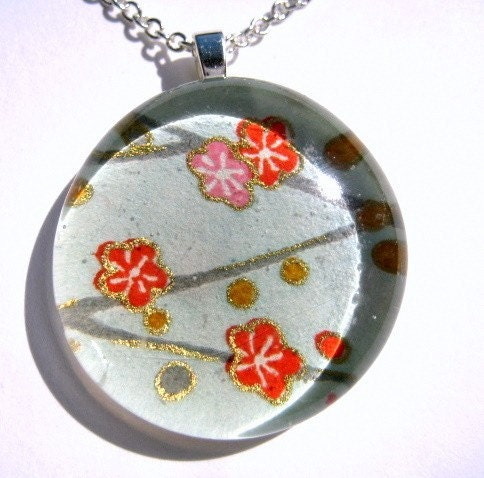 Plum Blossoms on Blue - $15