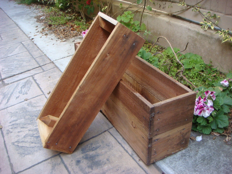 Custom wood planter flower box vegetable by redcedarwoodcraft for Vegetable garden planters