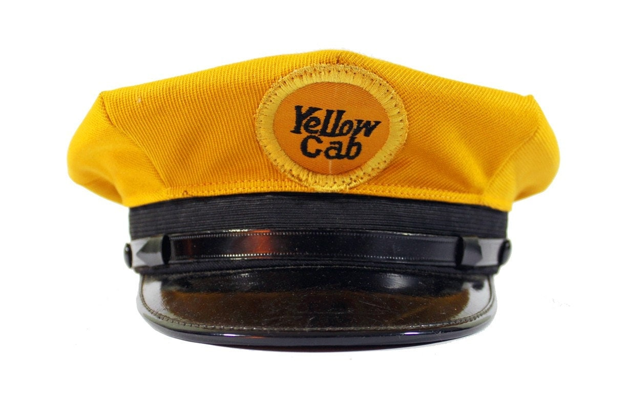 Vintage Yellow Cab Drivers Cap