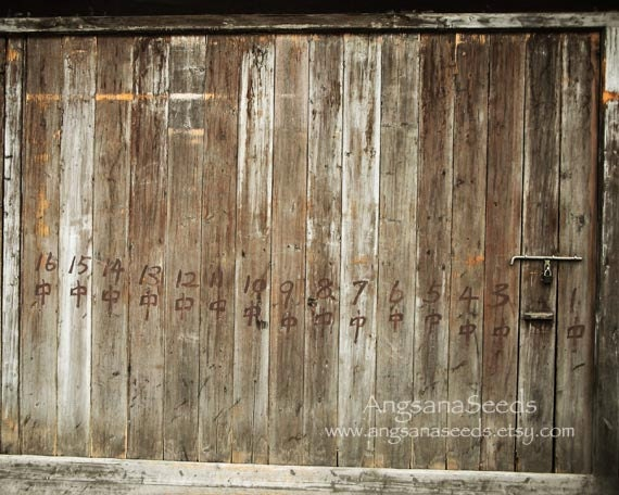 """Wooden Doors, rustic charm, recycle wood, 8""""x""""10"""" art print, Old Vintage panel, Country, Barn, Shed, brown,Wall decor, gift under 30 - AngsanaSeedsPhoto"""