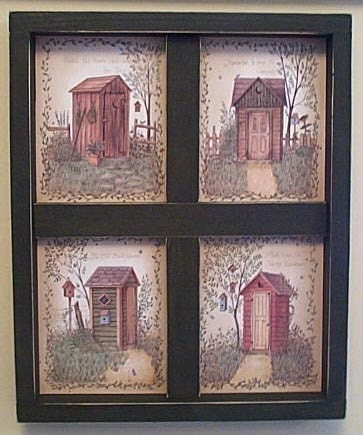 items similar to outhouse bathroom wall decor wooden window on etsy. Black Bedroom Furniture Sets. Home Design Ideas