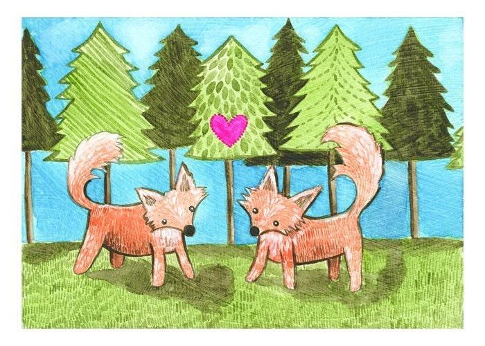 Foxy Love-5x7 PRINT