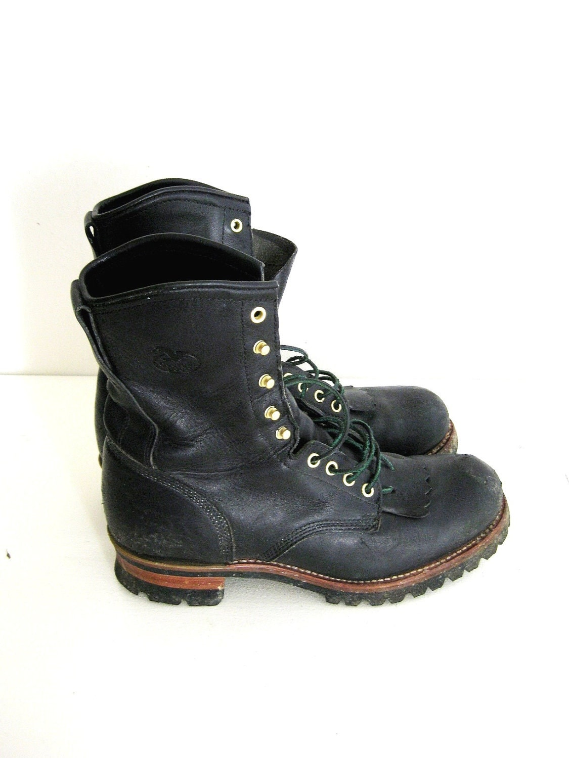s black leather boots steel toe boots by