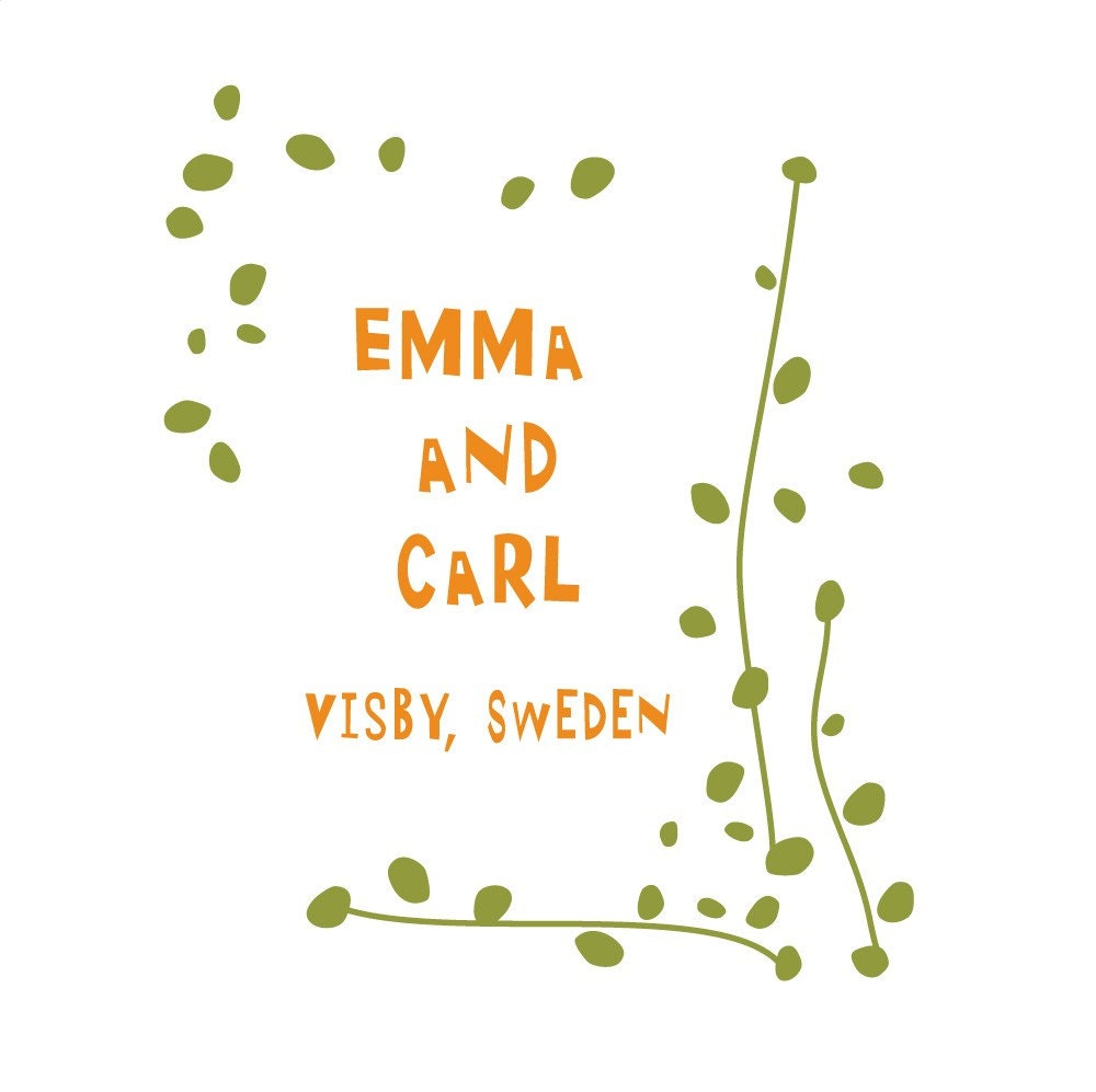 Wedding Logo foliage