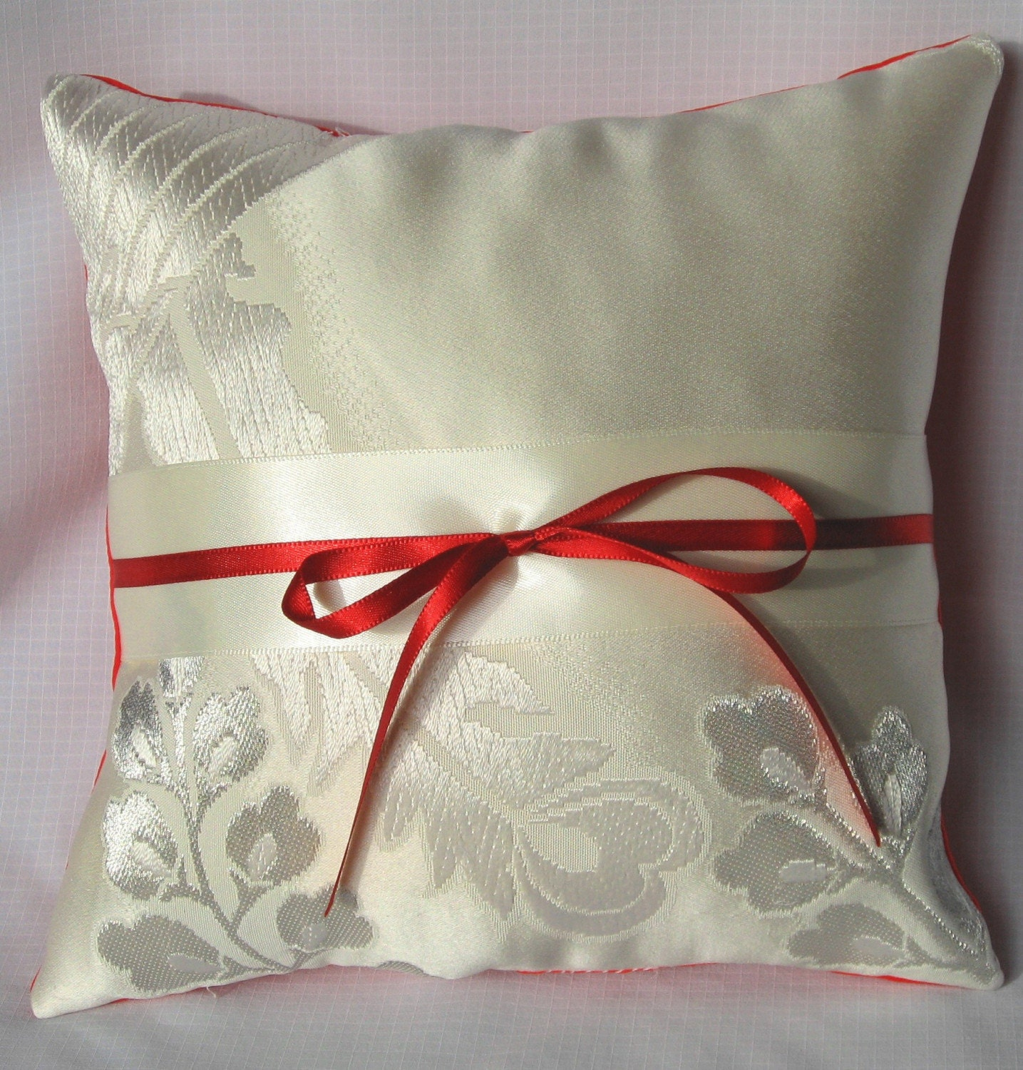 Wedding Ring Silk Japanese Kimono Pillow Private by icanfancythat