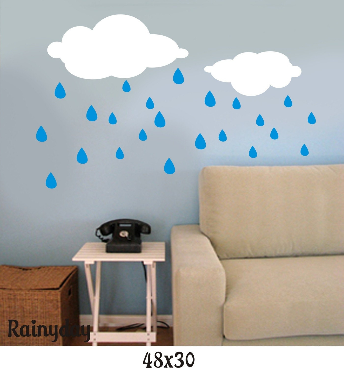 Rainy Day Vinyl Wall Graphic/Decal