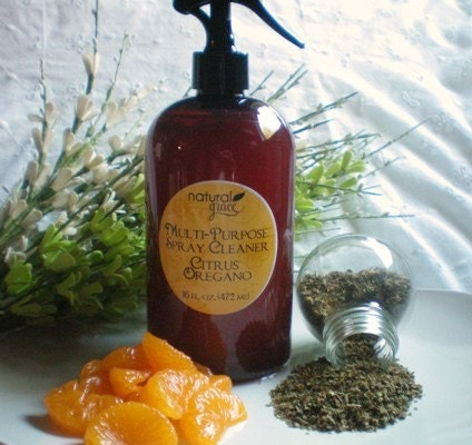 Citrus Oregano Natural Spray Cleaner