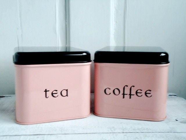Pink canisters kitchen new pink glass jars 3pc for Esszimmer offenbach