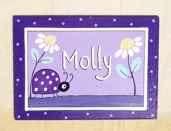 Personalized Handpainted Door Sign For Children's by TammnoonyKids