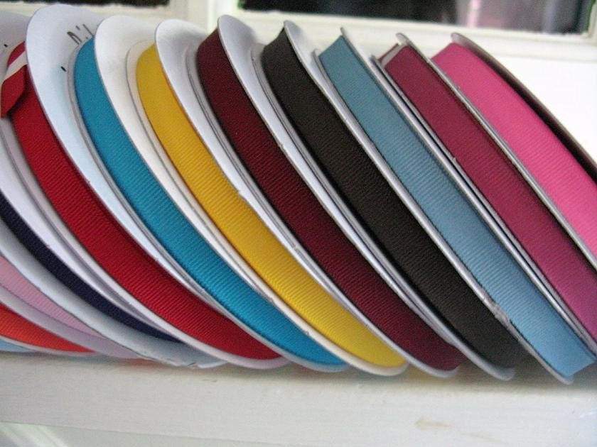 3/8 Inch Grosgrain Ribbon - Per Yard, Your Choice of Color(s)