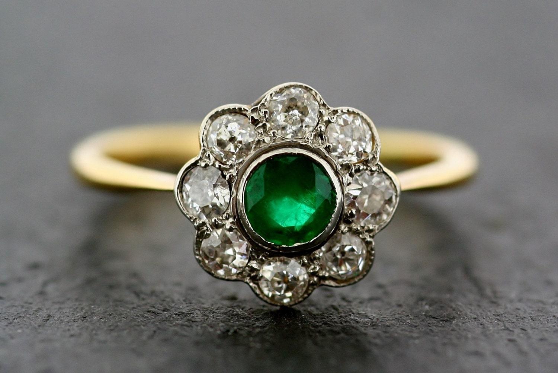 deco emerald ring antique emerald by alistirwoodtait