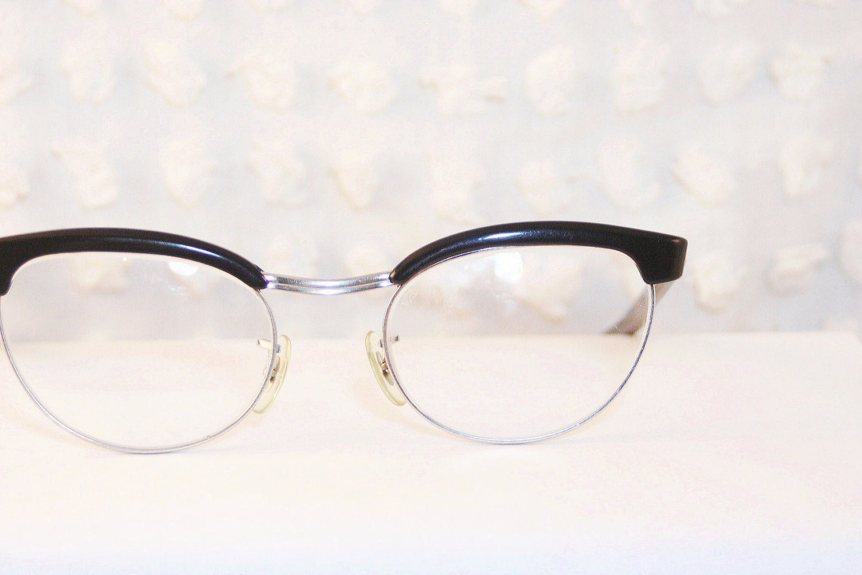 black browline cat eye 1960 s eyeglasses oval white by diaeyewear