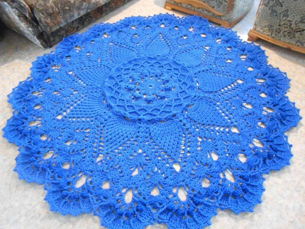 Вязание крючком коврика гранд