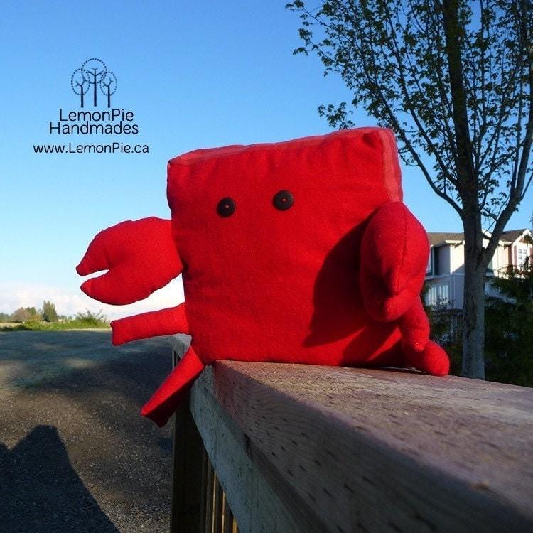 Mr. Lobber Lobber the Crab Monster Pillow