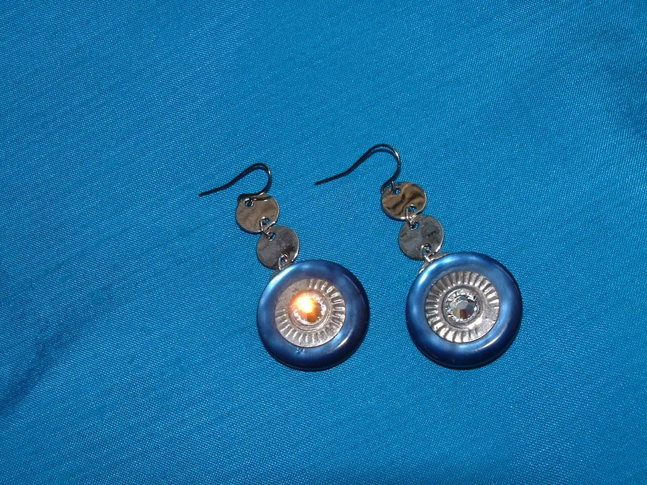 Reserved Vintage Lucite Button Earrings