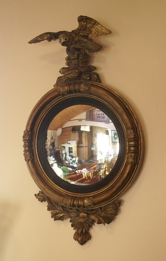 Pre Civil War American Empire Convex Eagle Mirror - Price reduced by 50 dollars