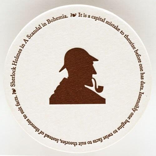 Sherlock Holmes Coasters (set of 8)