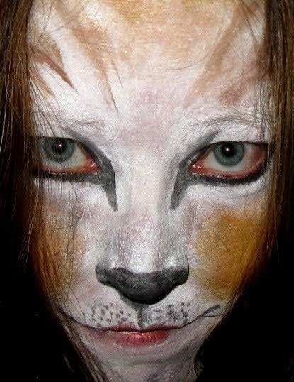 Stage Play Halloween Costume Makeup Cat or Lion Kit