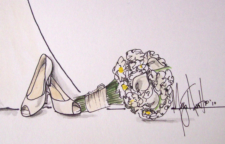Wedding Dress Sketch Gift: Wedding Gown Keepsake Sketch